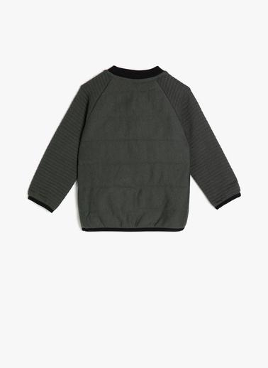 Koton Kids İşlemeli Sweatshirt Yeşil